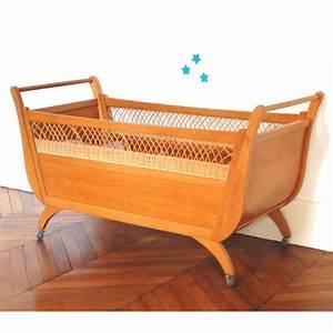 Lit Bebe Rotin : lit en bois et rotin ancien ~ Teatrodelosmanantiales.com Idées de Décoration
