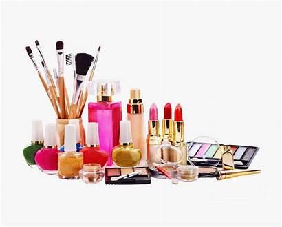 Makeup Parlour Clipart Ingredients Cosmetics Cartoon Transparent