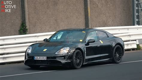 porsche taycan spied testing   nuerburgring youtube