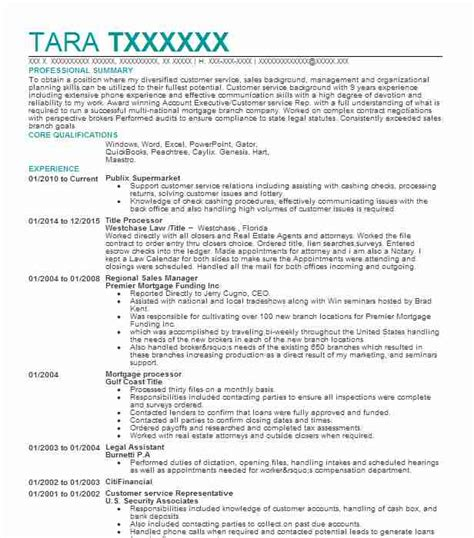 Title For Resume by Title Processor Resume Sle Processor Resumes Livecareer