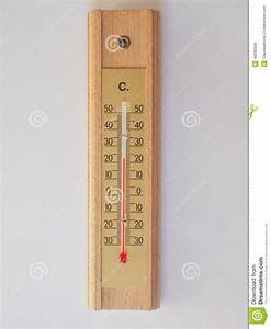 Thermometer For Air Temperature Measurement Stock Photo