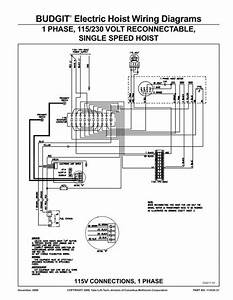 Budgit U00c2 U00ae Electric Hoist Wiring Diagrams