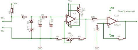 simple thermocouple amplifier delabs schematics