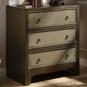 Accent Cabinets 3 Drawer Cabinet With Linen Drawer Fronts