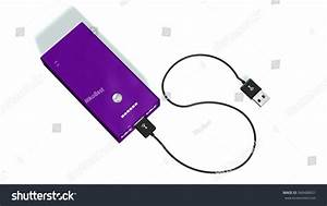 Power Bank Usb Charging Cable Isolated Stock Illustration