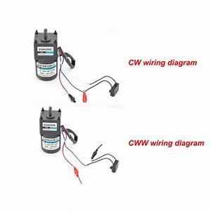 Ac 220v 15w Reductor Motor De Engranajes Metal Cw  Ccw