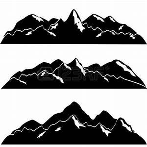 Mountain Black And White Outline | Clipart Panda - Free ...