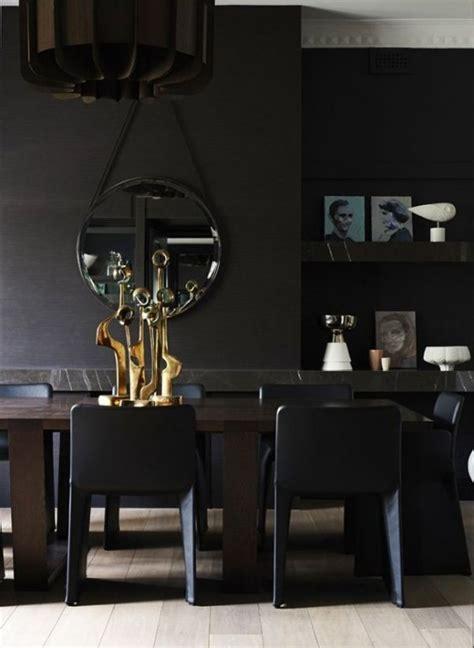 Contemporary Black Interior Design with Vibrant Accents