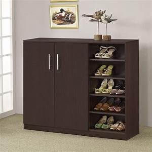 Grande Multi-Purpose & Shoe Cabinet - Walnut - Modern
