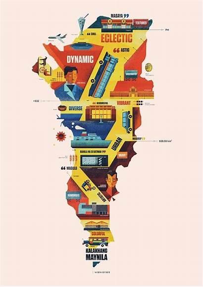 Manila Creative Cities Map Matutina Metro Landmarks