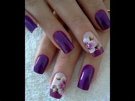 bonitas unas decoradas  flores youtube
