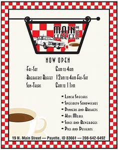 1950s food clipart vecimgismus With 50s diner menu template