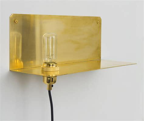 90 176 wall light with plug shelf brass by frama made in