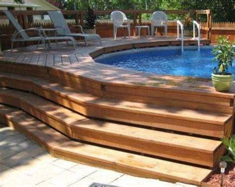 Best 25+ Above Ground Pool Decks Ideas On Pinterest