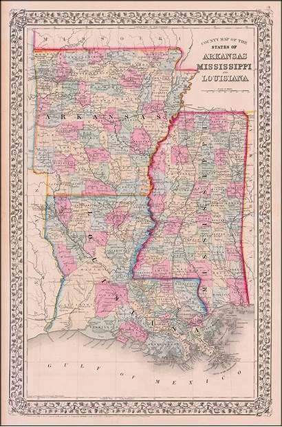 Arkansas Map Mississippi