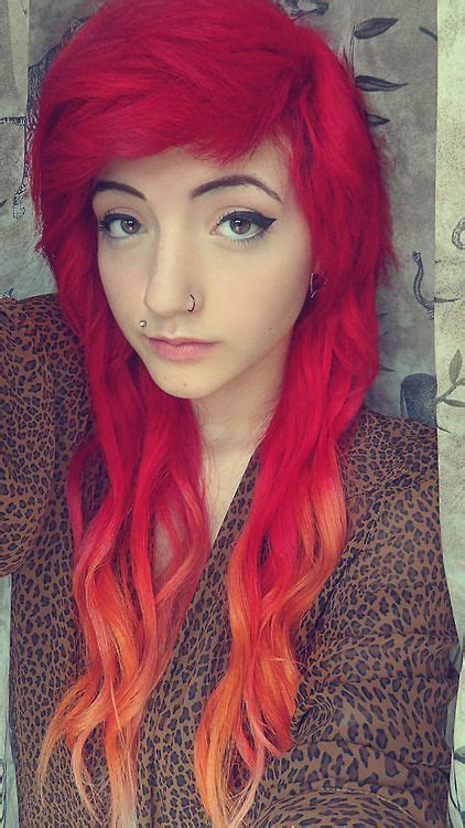 Red To Orange Ombre Long Hair I Honestly Love This But