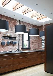 Modern kitchens and interior brick wall design ideas