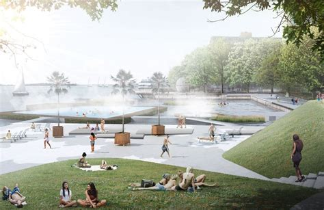 waterfront landscape design 5 proposals reimagine toronto ferry terminal and waterfront park archdaily
