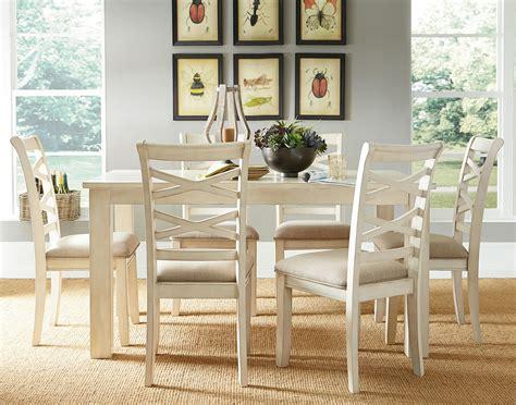 redondo vanilla casual dining room set  standard