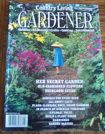 Wonderful New Book Gardeners by Country Living Gardener Summer 1994 Back Issue