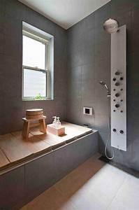 Badezimmer, In, Grau, Einrichten