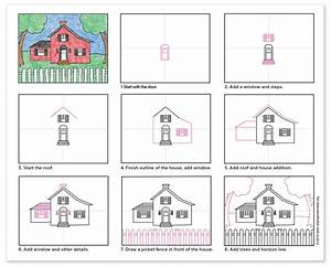 Draw A House  U00b7 Art Projects For Kids