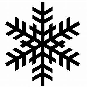 Best Black And White Snowflake #24390 - Clipartion.com