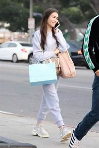 Madison Beer In A Gray Jogging Suit Goes Shopping In West