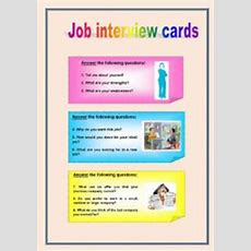 Conversation Cards Job Interview Questions  Esl Worksheet By Do Carmo