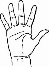 Hand Coloring Palm Template Facing Drawing Pages Handprint Shape Sketch sketch template