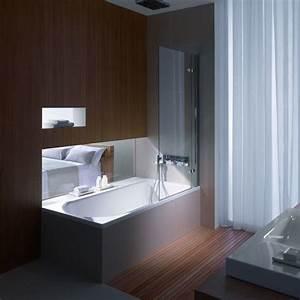 Bonde De Baignoire : baignoire douche avec bonde centrale en acier titane vitrifi ~ Melissatoandfro.com Idées de Décoration