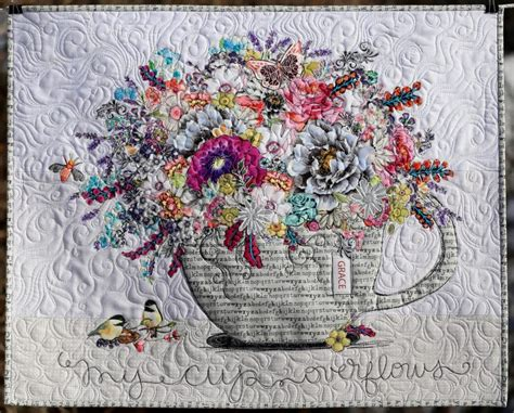 cup overflows collage paper pattern marveles art