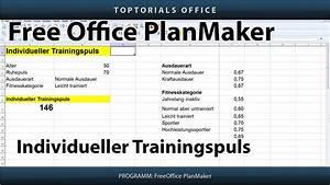 Trainingspuls Berechnen : trainingspuls berechnen nach lagerstr m freeoffice planmaker toptorials ~ Themetempest.com Abrechnung