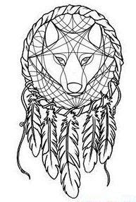 Pin by Amanda Coleman on HOW TO: | Dream catcher tattoo design, Dream catcher, Wolf dreamcatcher