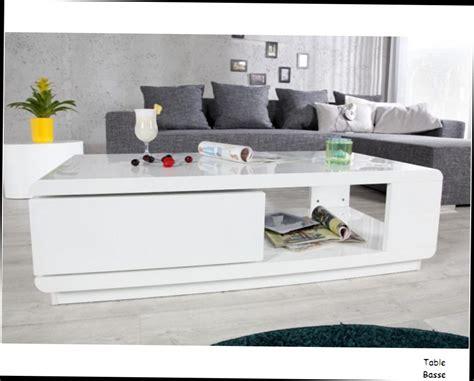 ophrey table de salon moderne blanc pr 233 l 232 vement d