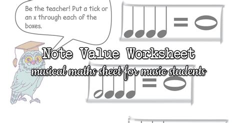 note values worksheets with owls and balloons colourful