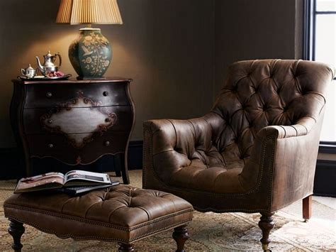 reclining wingback traditional wing back button tufted chair and ottoman