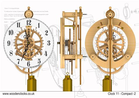 basics woodworking wooden clock plans dwg