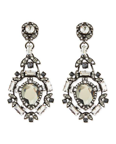 lanvin clear clip on chandelier earrings