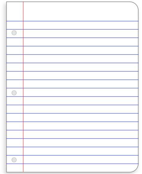 Notebook Paper Template Printable Notebook Paper Kiddo Shelter Notebook Paper