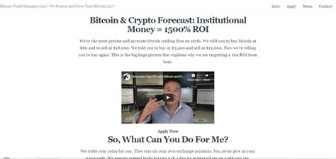 Bitcoin investing can yield significant gains. Bitcoin-fund-manager Review: Is this a Crypto Scam ...