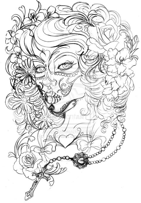 Dead Rose Coloring Pages