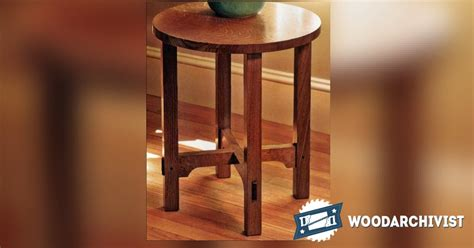 art  crafts side table plans woodarchivist