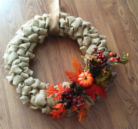 Fall Burlap Wreath Diy  The New Mrs Stott