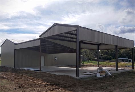 You can hire an architect to draw up plans or look for barndominium floor plans and work from those. Barndominium, carport, rv cover built by HRP Services in ...