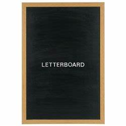 mastervision wood framed non magnetic portrait letter With office depot letter board