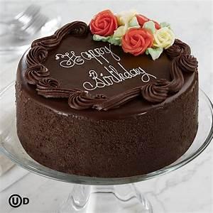 """Birthday Cake: 6"""" Three Layer Chocolate Happy Birthday Cake"""