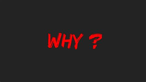 Why, Hd Typography, 4k Wallpapers, Images, Backgrounds