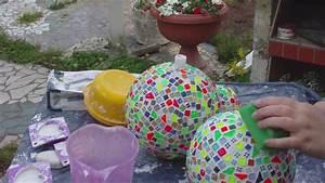 Basteln Mit Mosaiksteinen : beton giessen diy selbst mosaik auf betonkugeln legen gartensteckern und mehr youtube ~ Whattoseeinmadrid.com Haus und Dekorationen