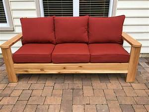 ana white cedar outdoor sofa diy projects With make outdoor sectional sofa